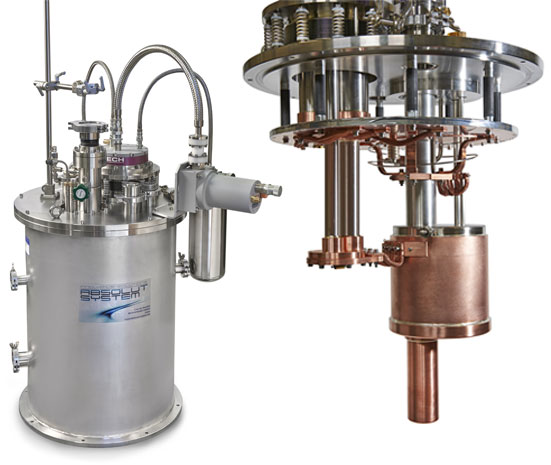 4K cryostat with on-board liquefaction for Josephson voltage references and cryogenic current comparator system